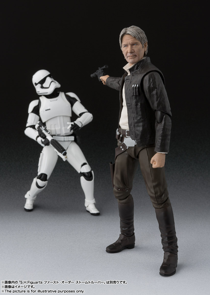 BANDAI Japan S.H.Figuarts Star Wars Han Solo The Force Awakens Action Figure